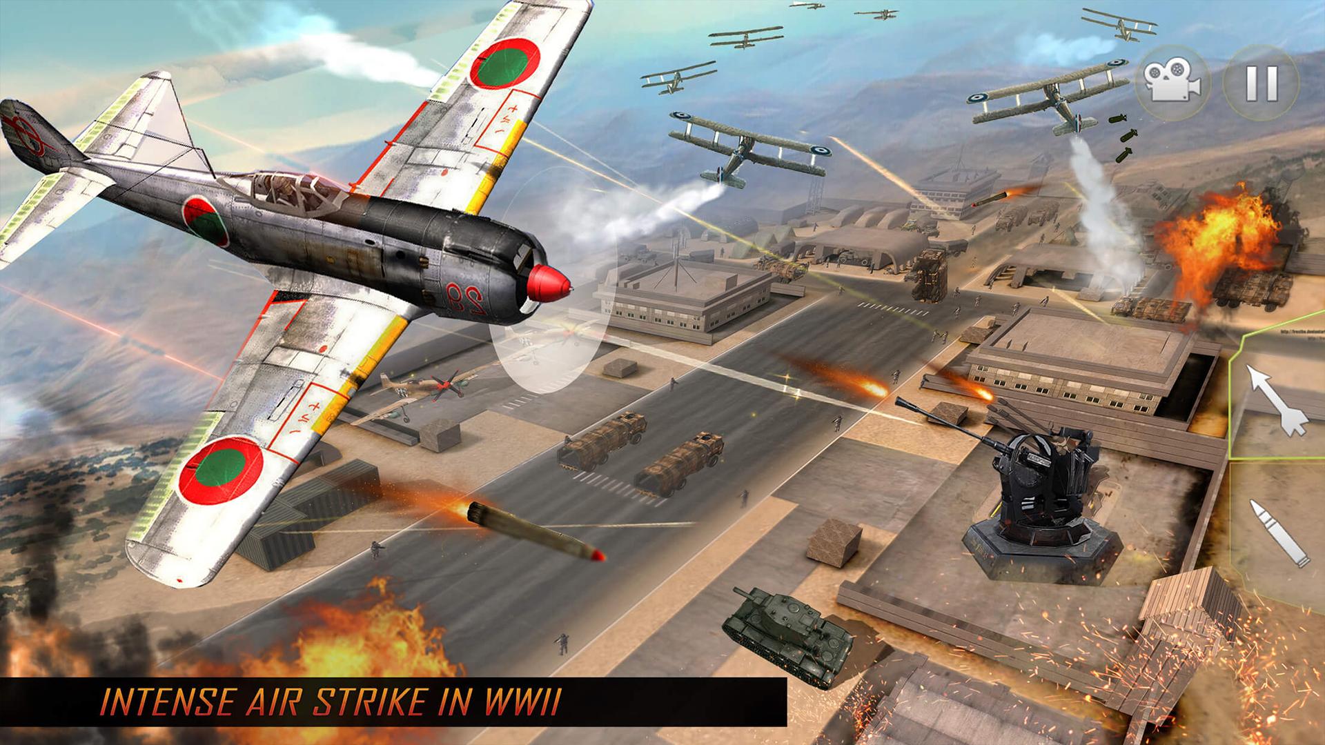 Amazon com: WW2 Naval Gunner Battle Air Strike: Free War