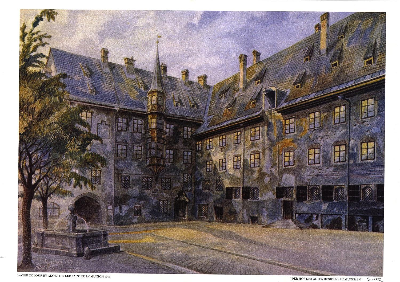 Alter Hof Munich Peinture Par Adolf Hitler Amazon Fr Cuisine Maison