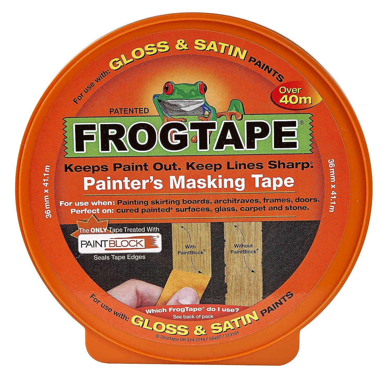 Shurtape 179317 Masking Tape, Yellow, 24 mm x 41.1 m Shurtape UK 202552