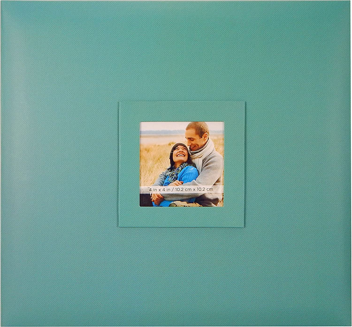 MCS MBI 13.5x12.5 Inch Earthtones Collection Scrapbook Album with 12x12 Inch Pages and Photo Opening, Blueberry (860099)