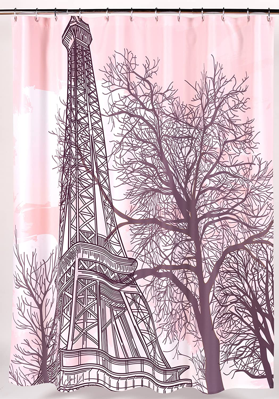 """Tour Eiffel"" Fabric Shower Curtain"