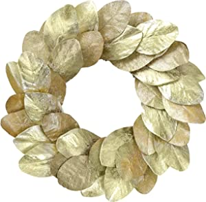 YNYLCHMX Artificial Christmas Wreath for Front Door, Door Wreath Flushed with Golden Magnolia Leaves, Home Decor for Indoor, Windows, Wall, Fireplace, Holiday, Party Decoration, 20 Inch