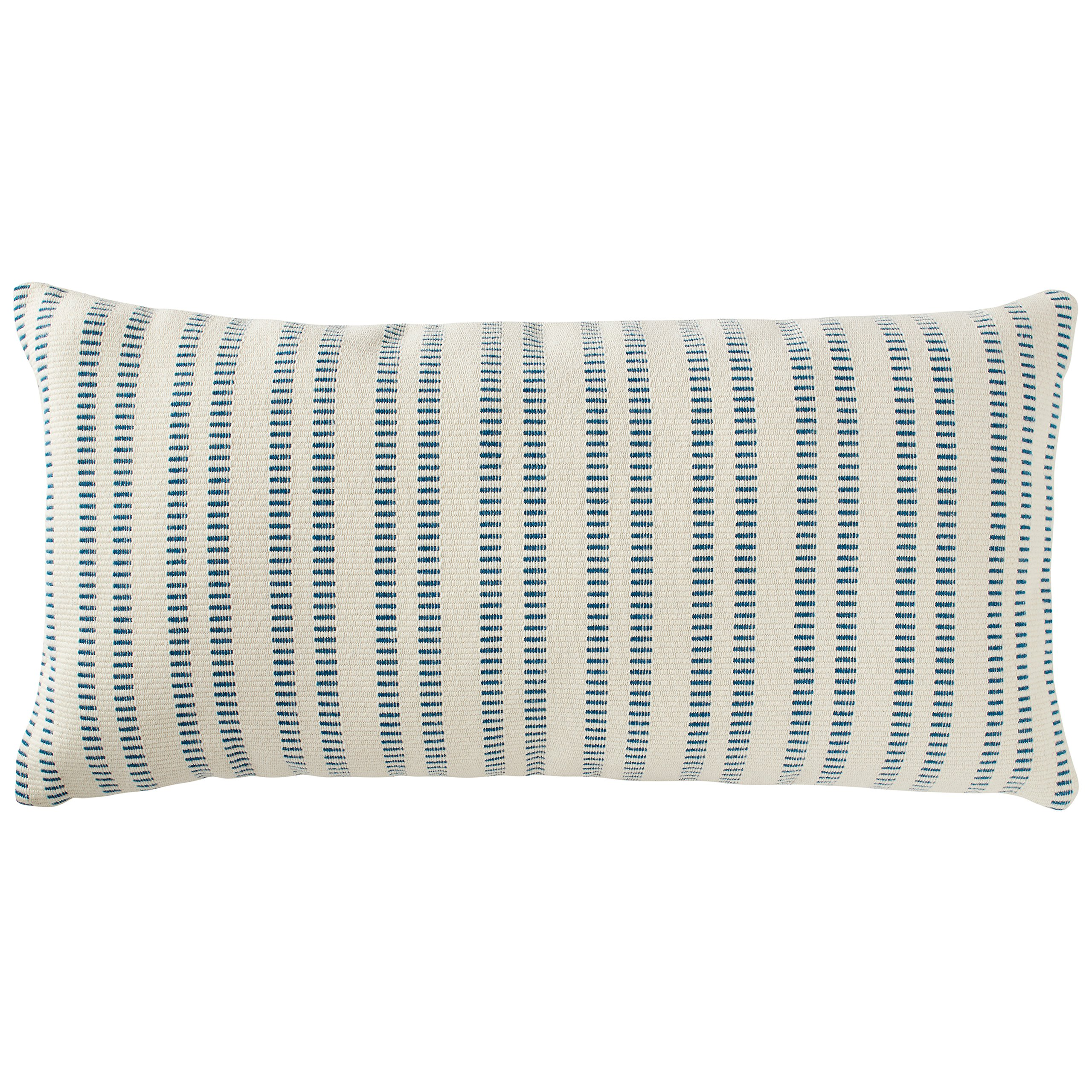 Stone & Beam French Laundry Stripe Pillow, 12'' x 24'', Ivory, Turquoise by Stone & Beam (Image #5)