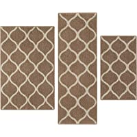 Kitchen Rugs Set, Maples Rugs [Made In USA][Rebecca] 3 Piece