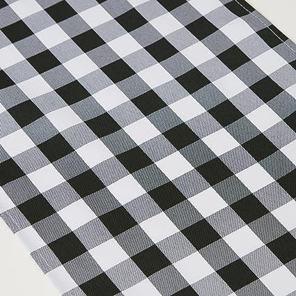 TRLYC Black And White Checkered Table Runner Black Plaid Table Runner Table  Top 13x108
