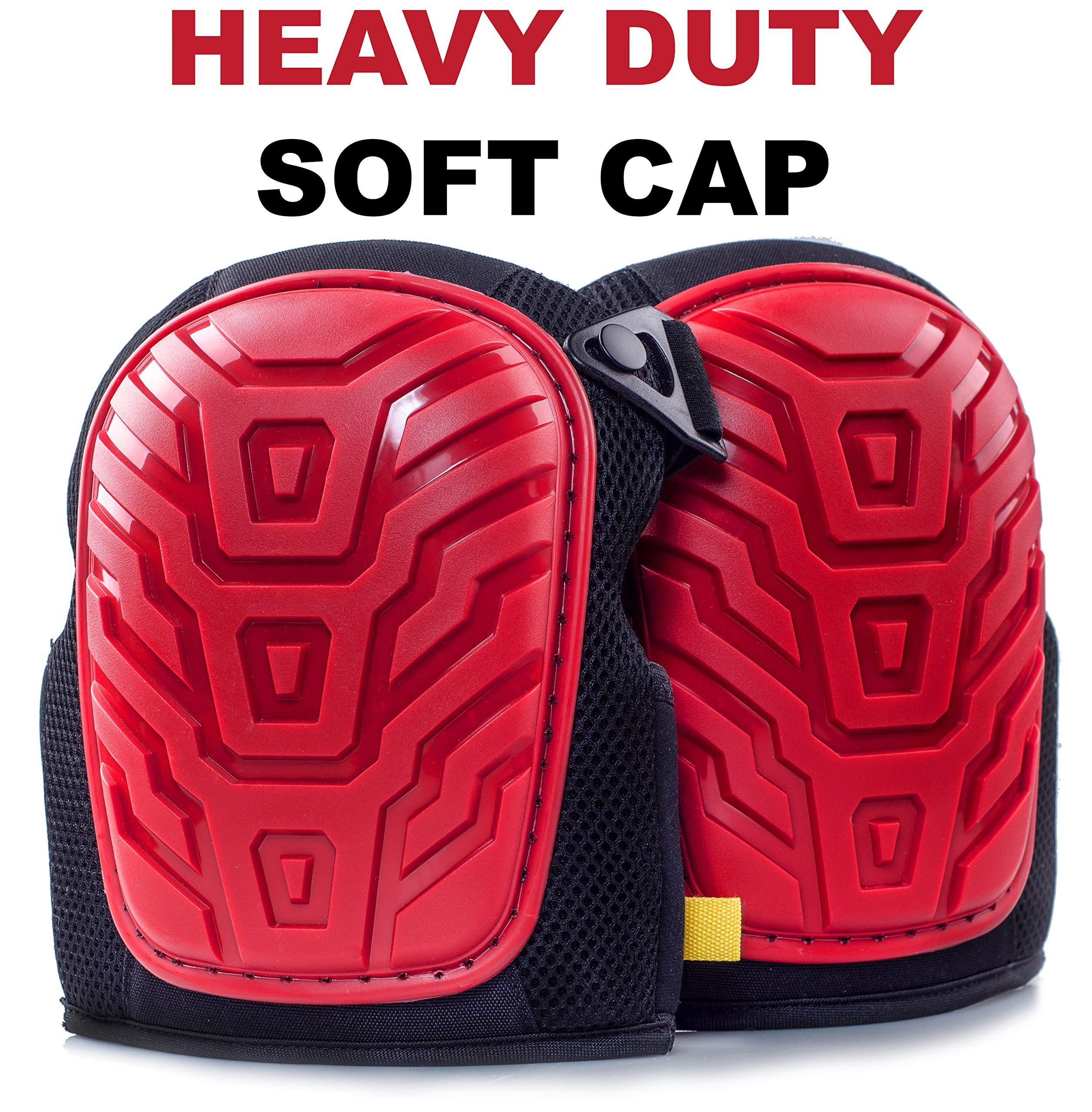 Professional Knee Pads - Easy to WEAR Heavy Duty Memory Foam Padding, Comfortable Gel Cushion, Strong Straps FITS All, Adjustable Easy-Fix Clips - Best for Gardening, Construction, Flooring by Kutir (Image #5)