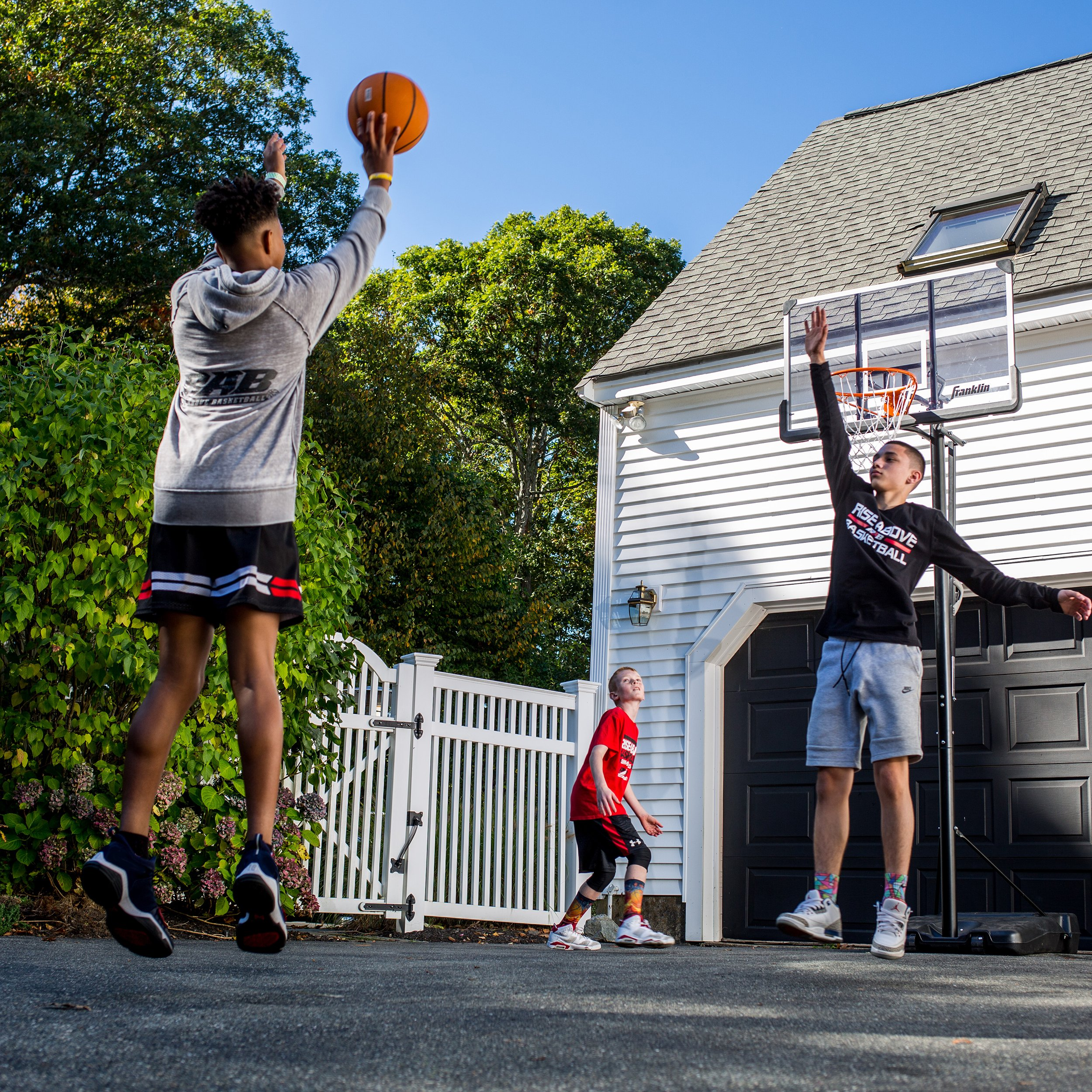 Franklin Sports Portable Basketball Hoop – Authentic Street Basketball Hoop for Adults and Kids – Adjustable Basketball Hoop with Rolling Mechanism – Play Basketball in Your Driveway by Franklin Sports (Image #6)