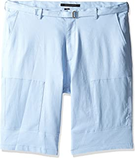 Sean John Mens Tall Linen Belted Flight Short