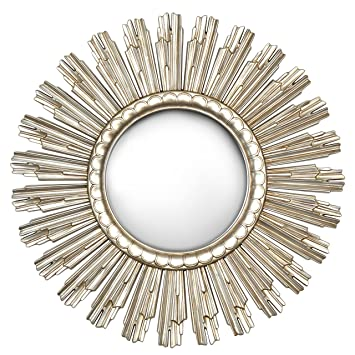 Innova Beautiful And Decorative Champagne Gold Sun Shaped Mirror