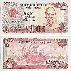 La cifra de billetes de colección de Vietnam / 500 Dong crujiente billete sin circular / Money papel genuino .: Amazon.es: Juguetes y juegos