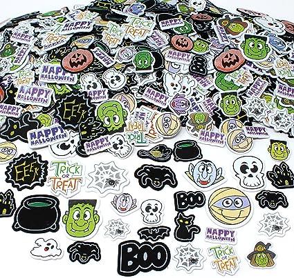 500 Glittered Halloween Self Adhesive Foam Spooky ShapesKids Halloween Crafts