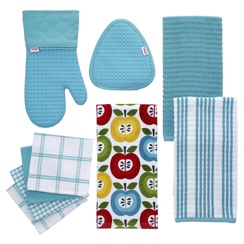 T-fal Textiles 24367 4-Pack Cotton Flat Waffle Dish Cloth Breeze