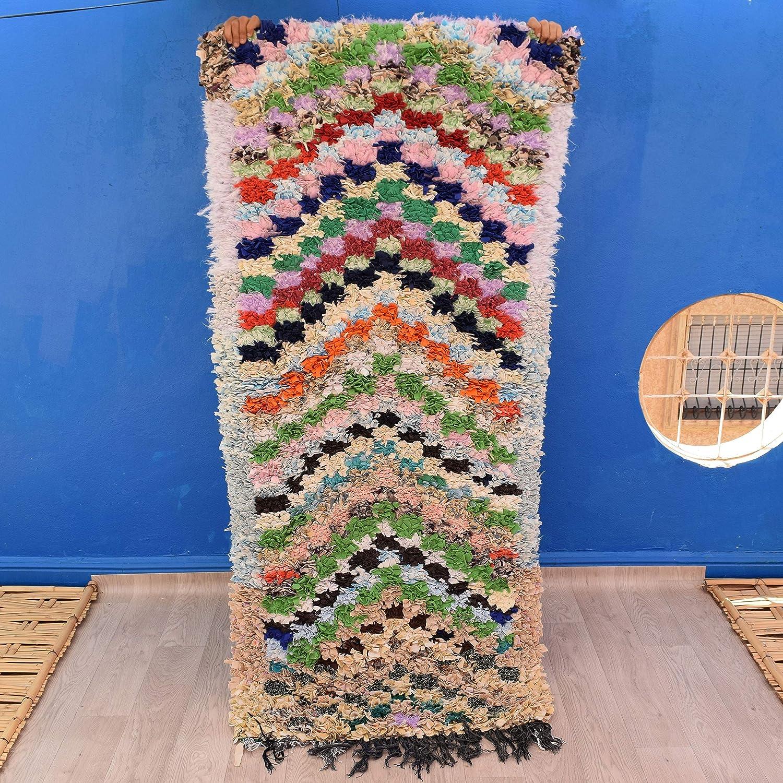Amazon Com Beautiful Boucherouite Rug 6 4 X 2 8 Tapis Berbere
