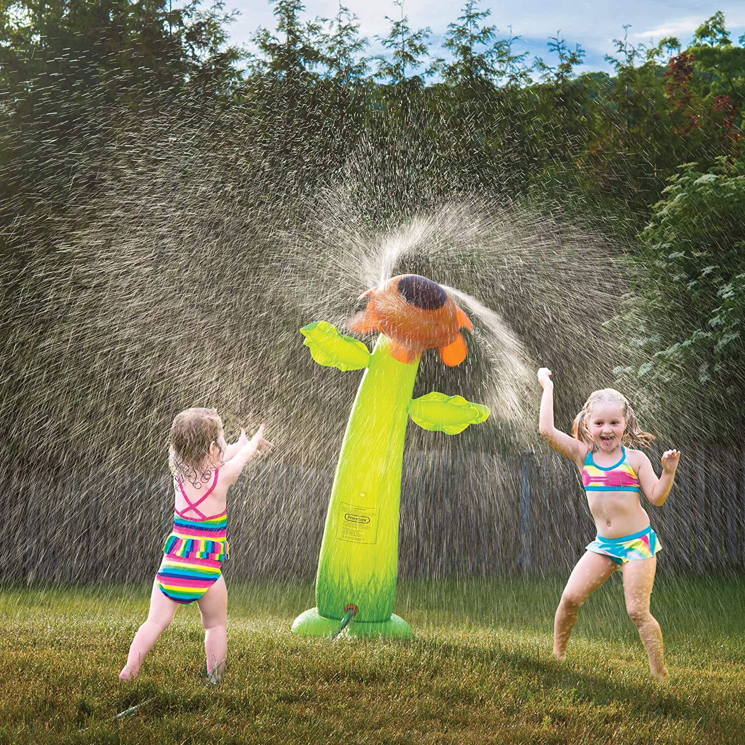 Prextex 5 Ft. Inflatable Water Sprinkler Sunflower Sprinkler Water Toy Fun Outdoor Water Activity for Toddlers and Kids: Toys & Games