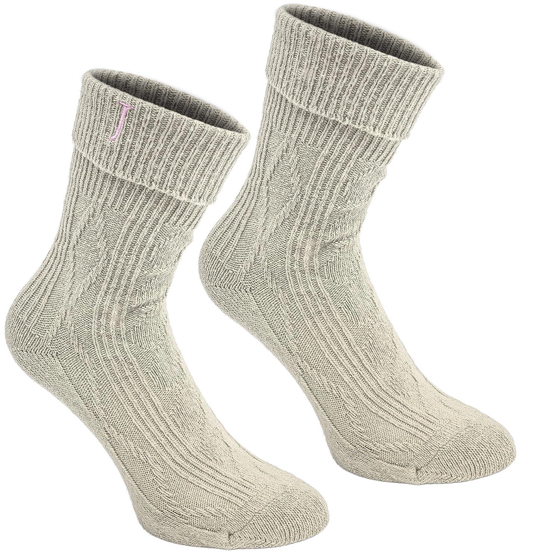 BRUBAKER Moda Donna set regalo da 2 paia taglia 36-41 Calzini Cashmere Touch per stivali o scarponi