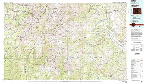 Amazon Com Yellowmaps Silverton Co Topo Map 1 100000 Scale 30 X