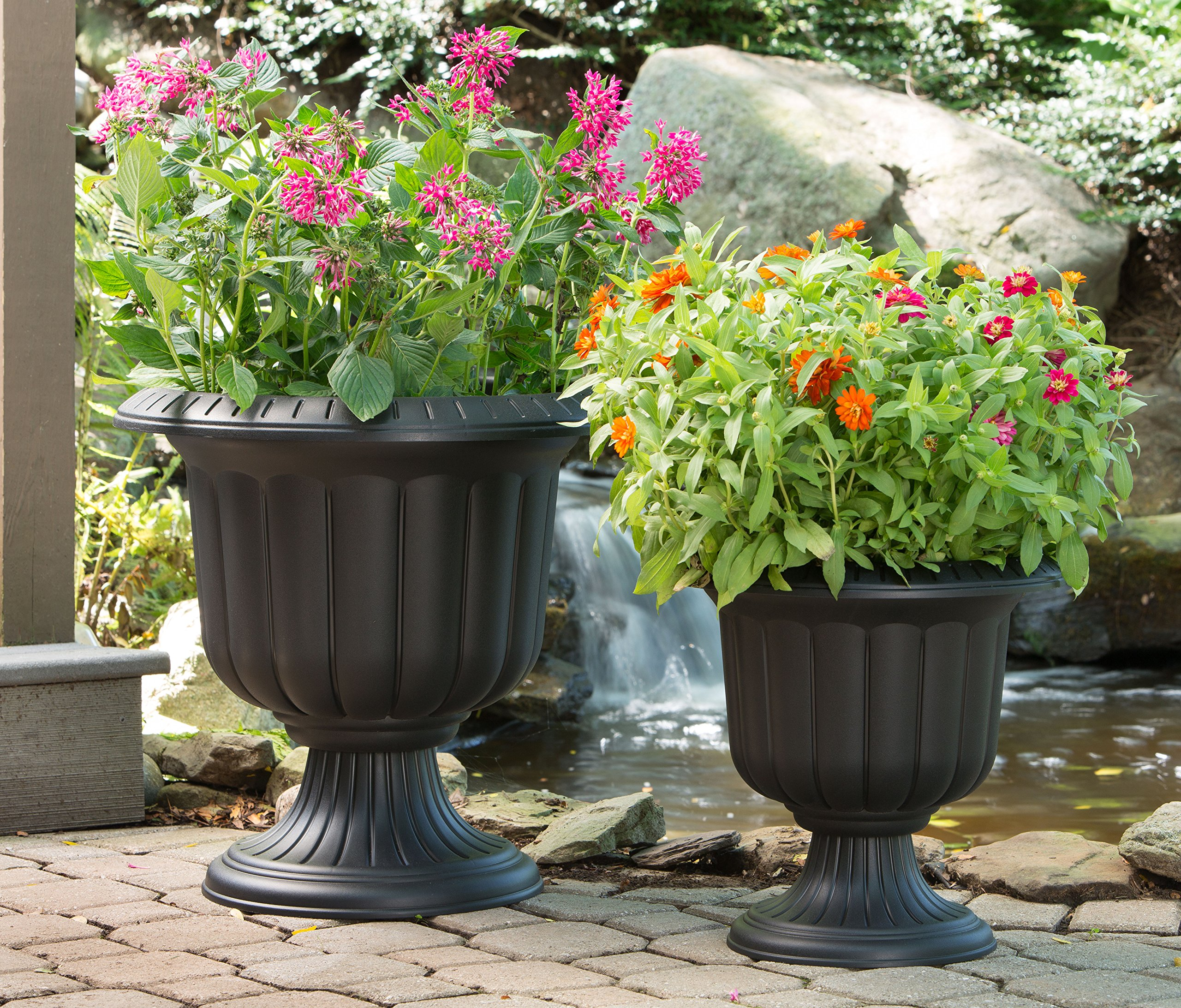 Novelty 38198.03 Classic Urn Planter, Black, 19-Inch by Novelty