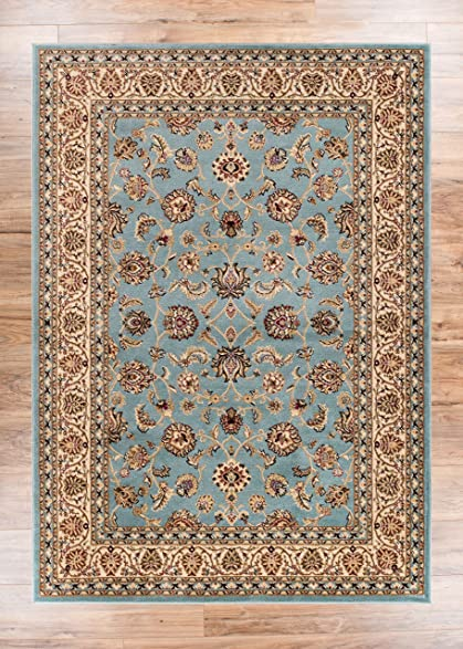 Noble Sarouk Light Blue Persian Floral Oriental Formal Traditional Area Rug 9x13 93quot
