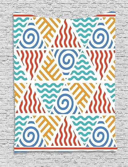 Amazon Ambesonne Tribal Decor Tapestry Retro Pattern Symbols