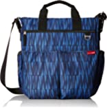 Skip Hop Duo Signature Carry All Travel Diaper Bag Tote with Multipockets, One Size, Blue Graffiti
