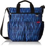 Skip Hop Duo Signature Diaper Bag with Portable Changing Mat, Blue Graffiti