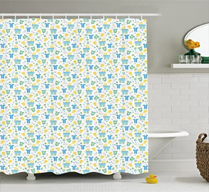 Amazon Ambesonne Baby Shower Curtain Retro Newborn Items