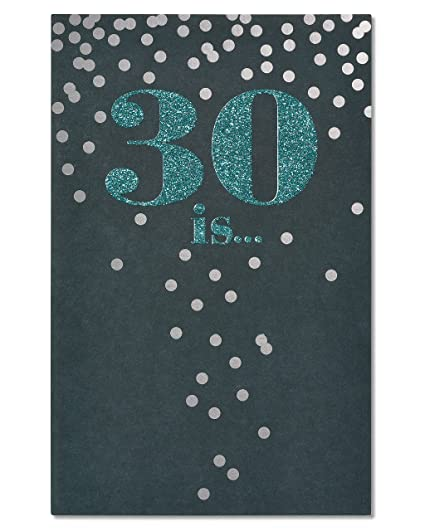 Image Unavailable Not Available For Color American Greetings Confetti 30th Birthday