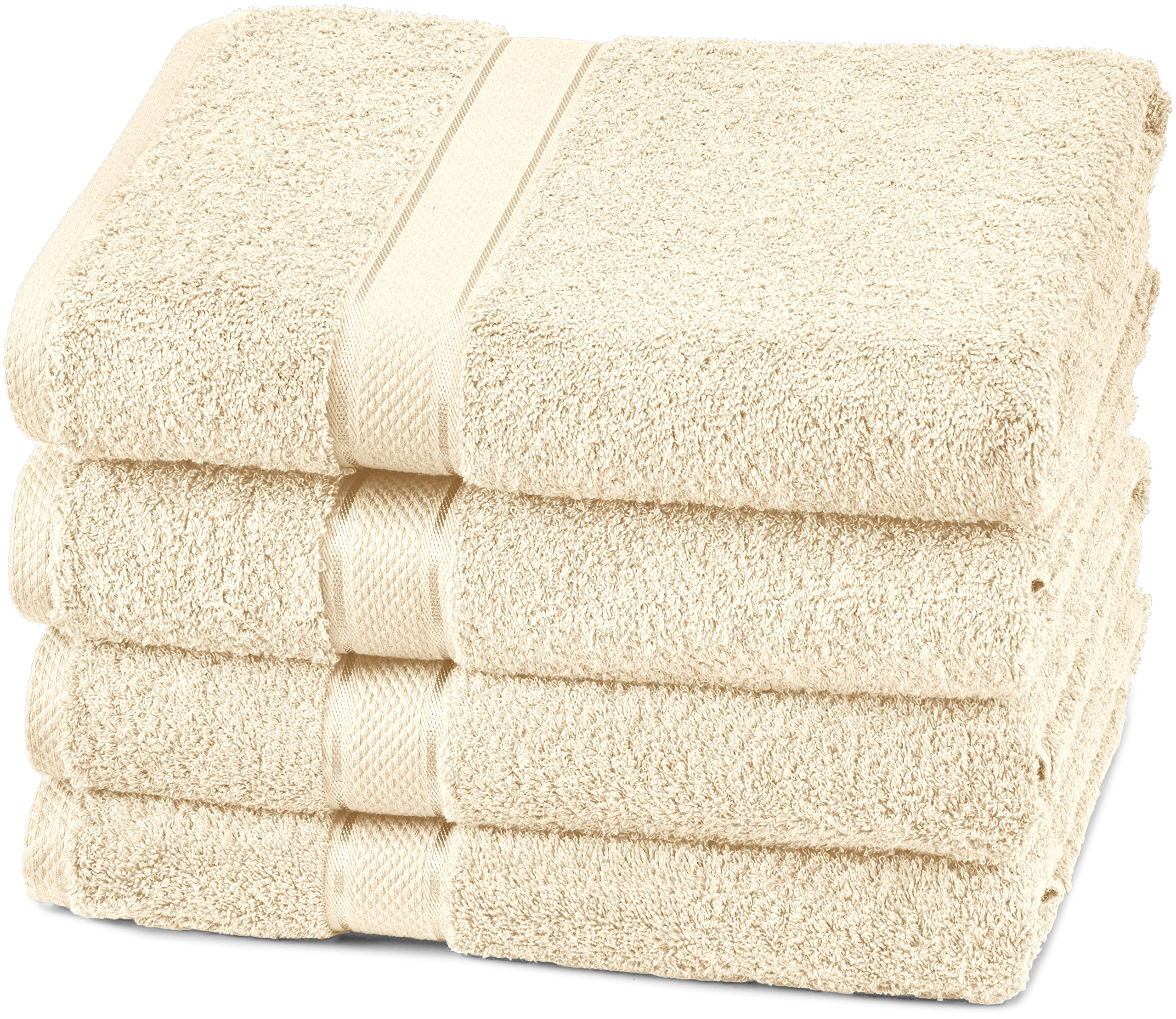Pinzon Egyptian Cotton Bath Towel Set (4 Pack) - Cream