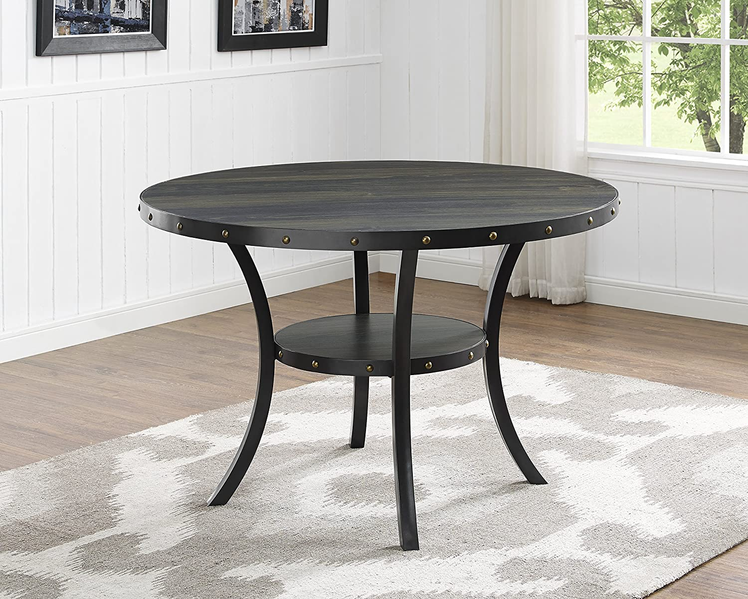Amazon.com - Roundhill Furniture D162GY Biony Dining Collection ...