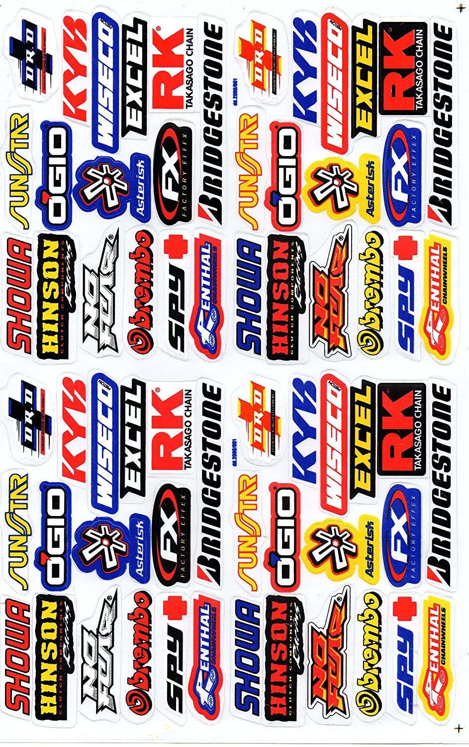 Sponsors Hoja Racing Decal Sticker Tuning Racing Tama/ño 27 x 18 cm para el coche o la moto