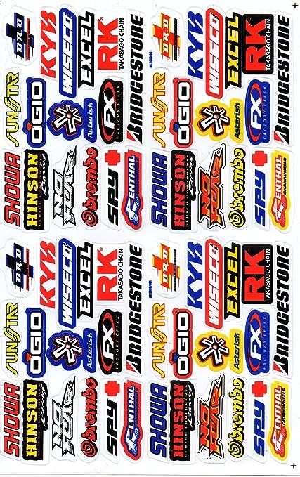 7 opinioni per Sponsor corsa della decalcomania Tuning Racing Dimensioni foglio: 27 x 18 cm per