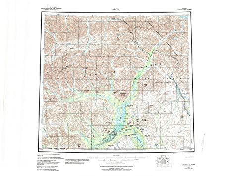 Amazon Com Yellowmaps Arctic Ak Topo Map 1 250000 Scale 1 X 3