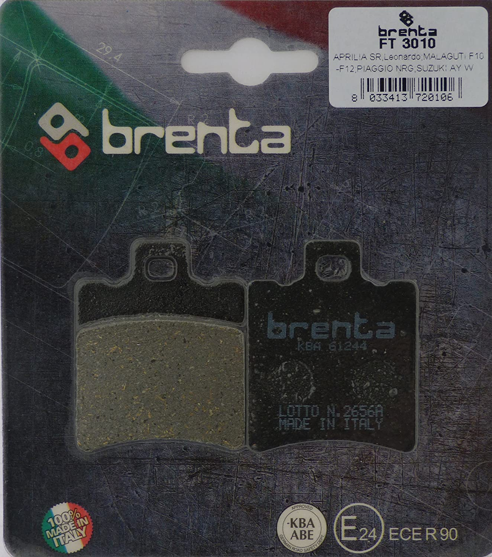 Brenta Bremsbelä ge Organische Motorrad fü r Aprilia, Benelli, Beta, Garelli, Gilera, Honda, Malaguti Frenotecnica FT 3010