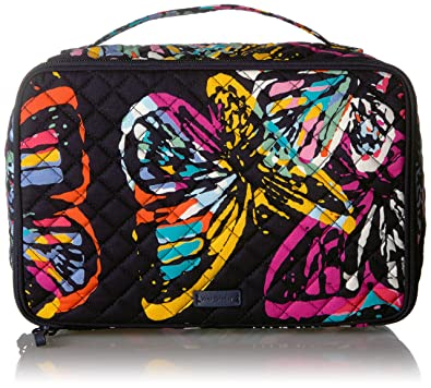 Vera Bradley Iconic Large Blush   Brush Case, Signature Cotton, Butterfly  Flutter b708dbaba4