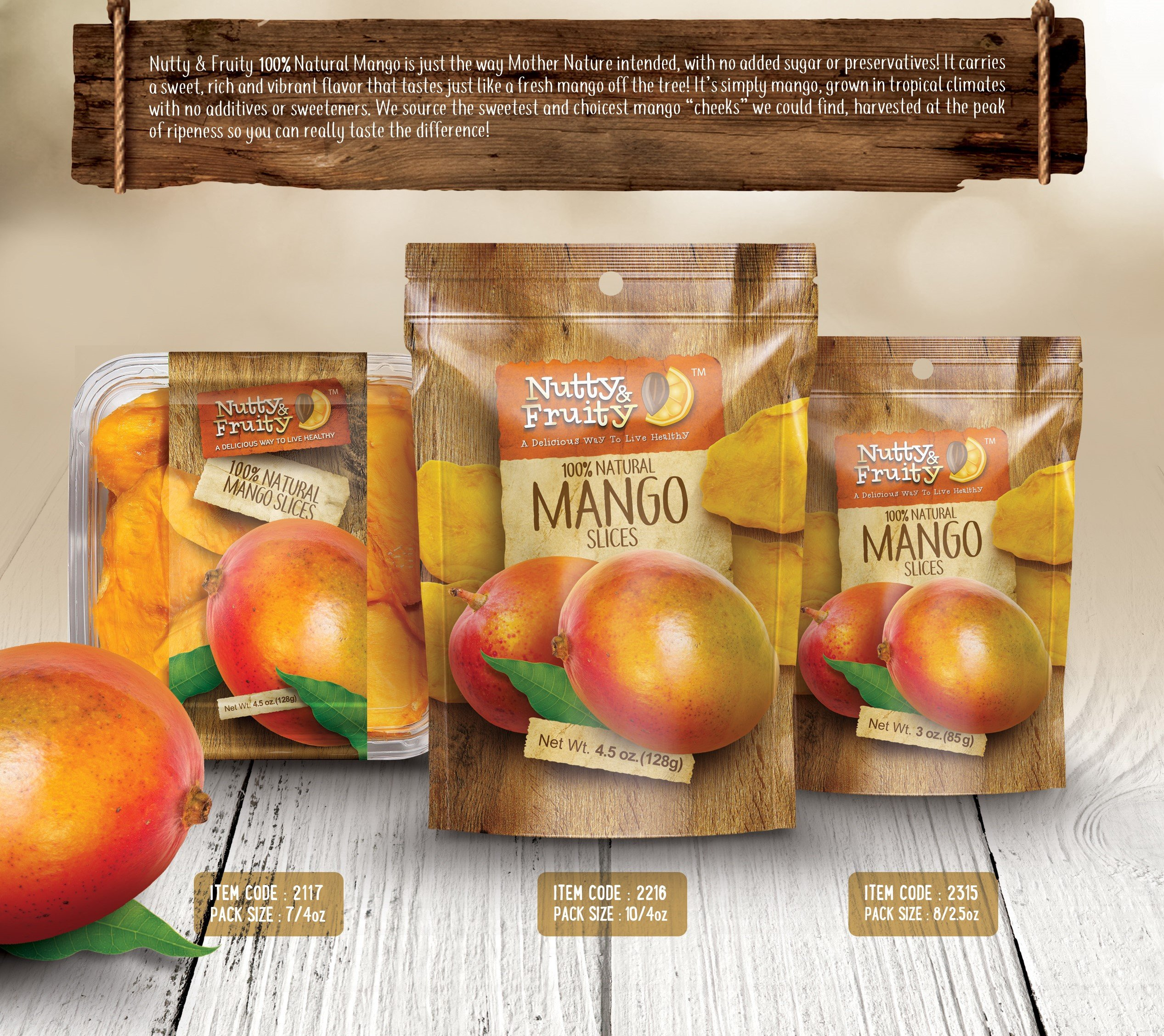 Dried Mango Slices By Nutty & Fruity - Natural With No Sugar Added - Unsulfured and No Preservatives added -This Healthy Snack is Gently Sliced Made With Real Mangoes And Great for the Trail and Home by Nutty and Fruity