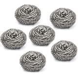 Cello Stainless Steel Kleeno Big Scrub Pad (Silver,  Set of 6)