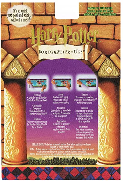Poster Tafels 1 T M 10.Harry Potter Glow In The Dark Illustrated Peel N Stick Wallpaper