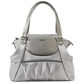 8979ad6c6800 Amazon.com : Skip Hop Studio Select Day-to-Night Diaper Satchel, Pewter :  Baby