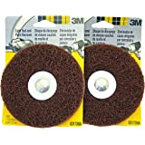 3M 03173-NA Paint and Rust Removal Tool, 2 Pad Kit of 5 inch Discs with Scotch-Brite Abrasive Web Fiber and 1/4 inch Shaft for Use with Any Standard Drill