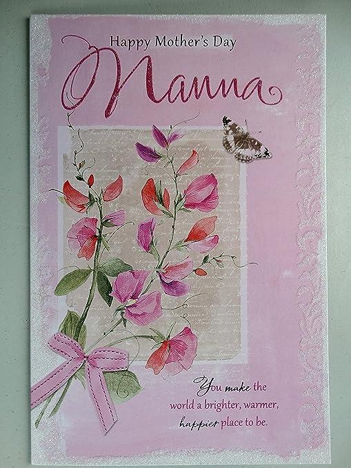 Feliz día de la madre Nana de la flor y la mariposa tarjeta ...