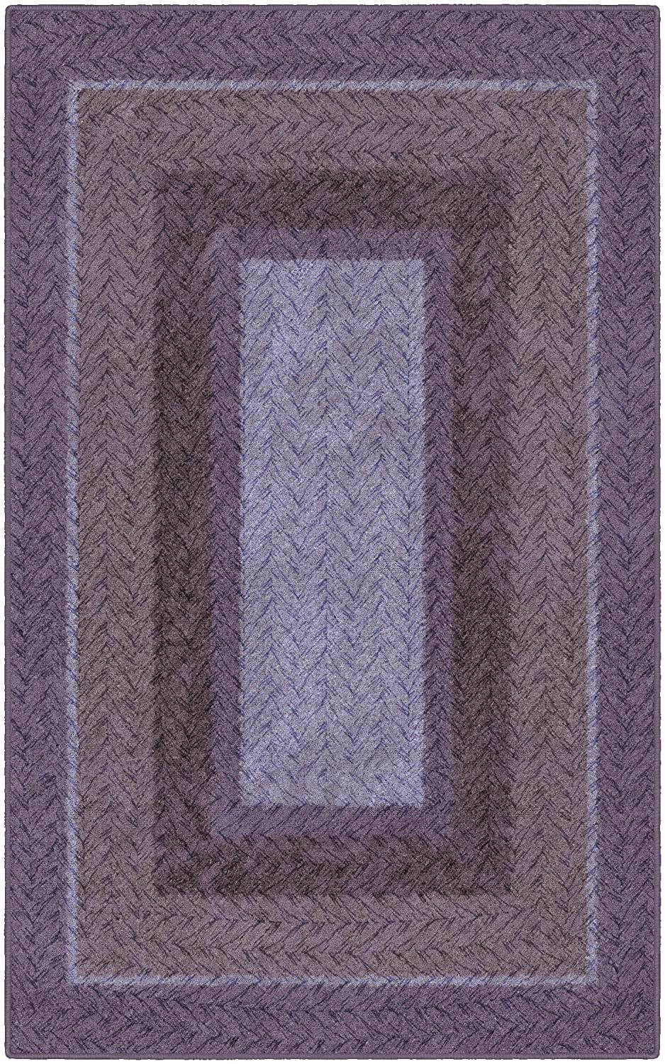 Brumlow Mills EW10154-40x60 Purple Braided Printed Area Rug, 3