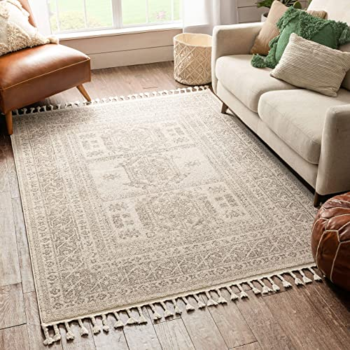 Well Woven Caro Beige Tribal Medallion Area Rug 8×10 7'10″ x 10'6″ Review