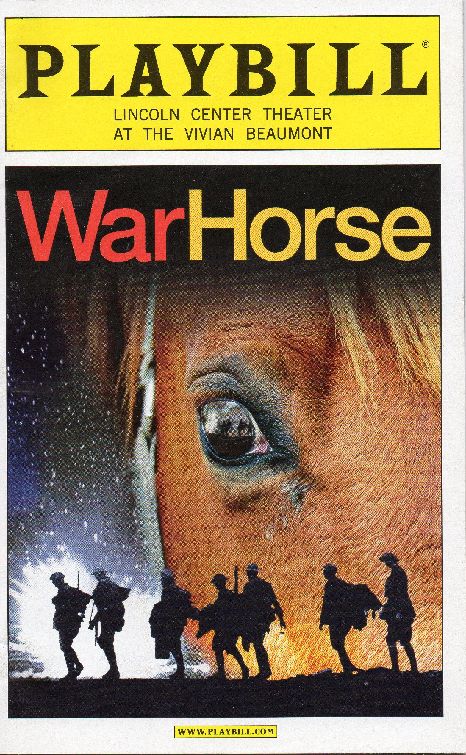 Download WAR HORSE Playbill for the Original Broadway Production - Lincoln Center at the Vivian Beaumont Theater - October 2011 ebook