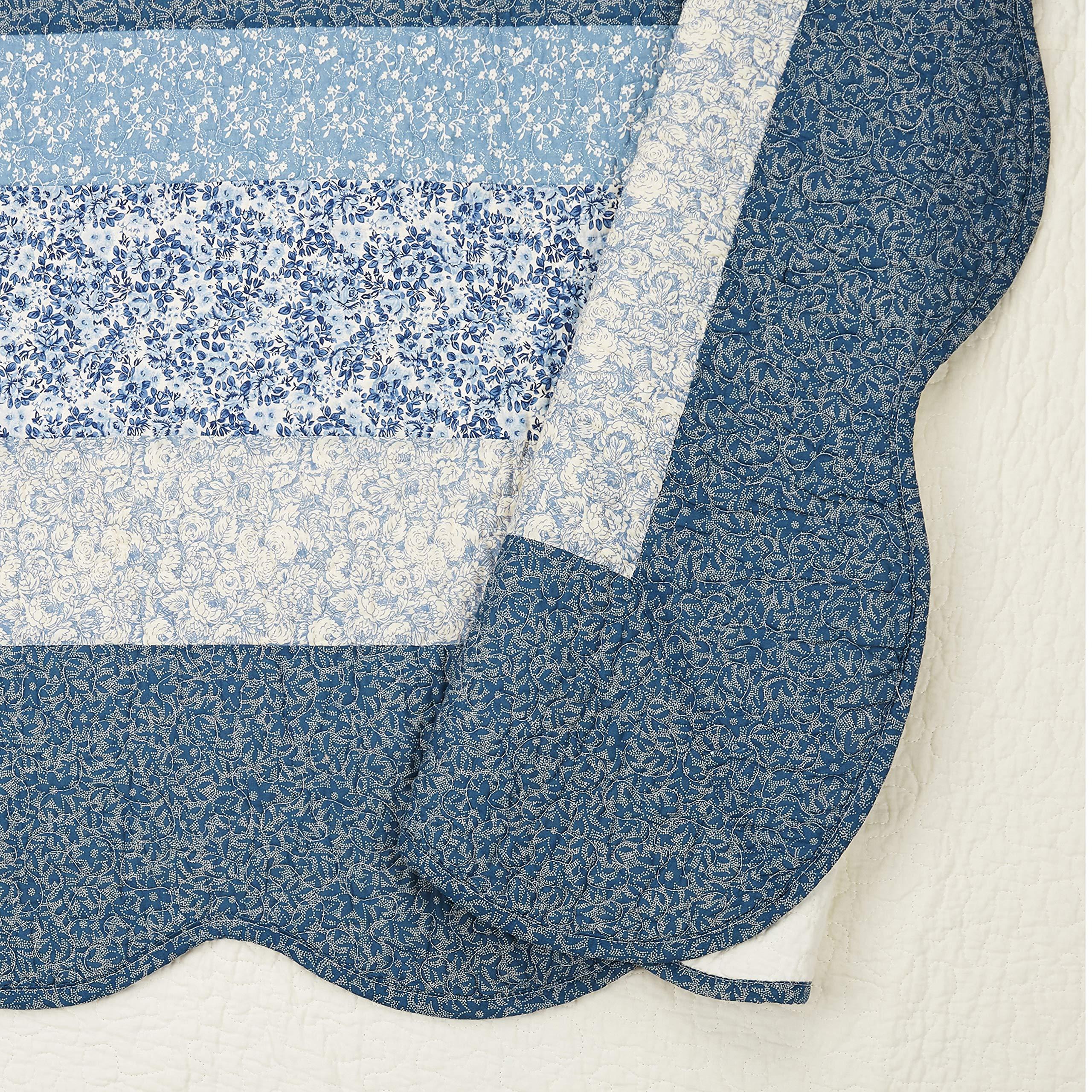 Modern Heirloom Collection Charlotte Bedspread, King, Blue by Modern Heirloom Collection (Image #2)