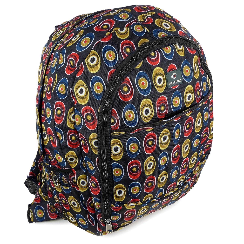 Amazon.com   Obsessed Men s Backpack Rucksack By School Or College Bag  Funky Eyes Travel Onesize Black   Kids  Backpacks 231297730d