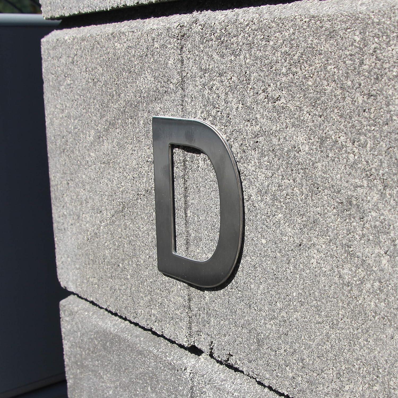 Lettera in acciaio inossidabile adesiva numero di casa numero di porta design altezza 7,5 cm