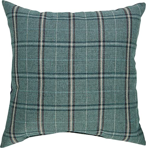 Amazon Brand Stone Beam Classic Outdoor Plaid Throw Pillow – 20 x 20 Inch, Lagoon