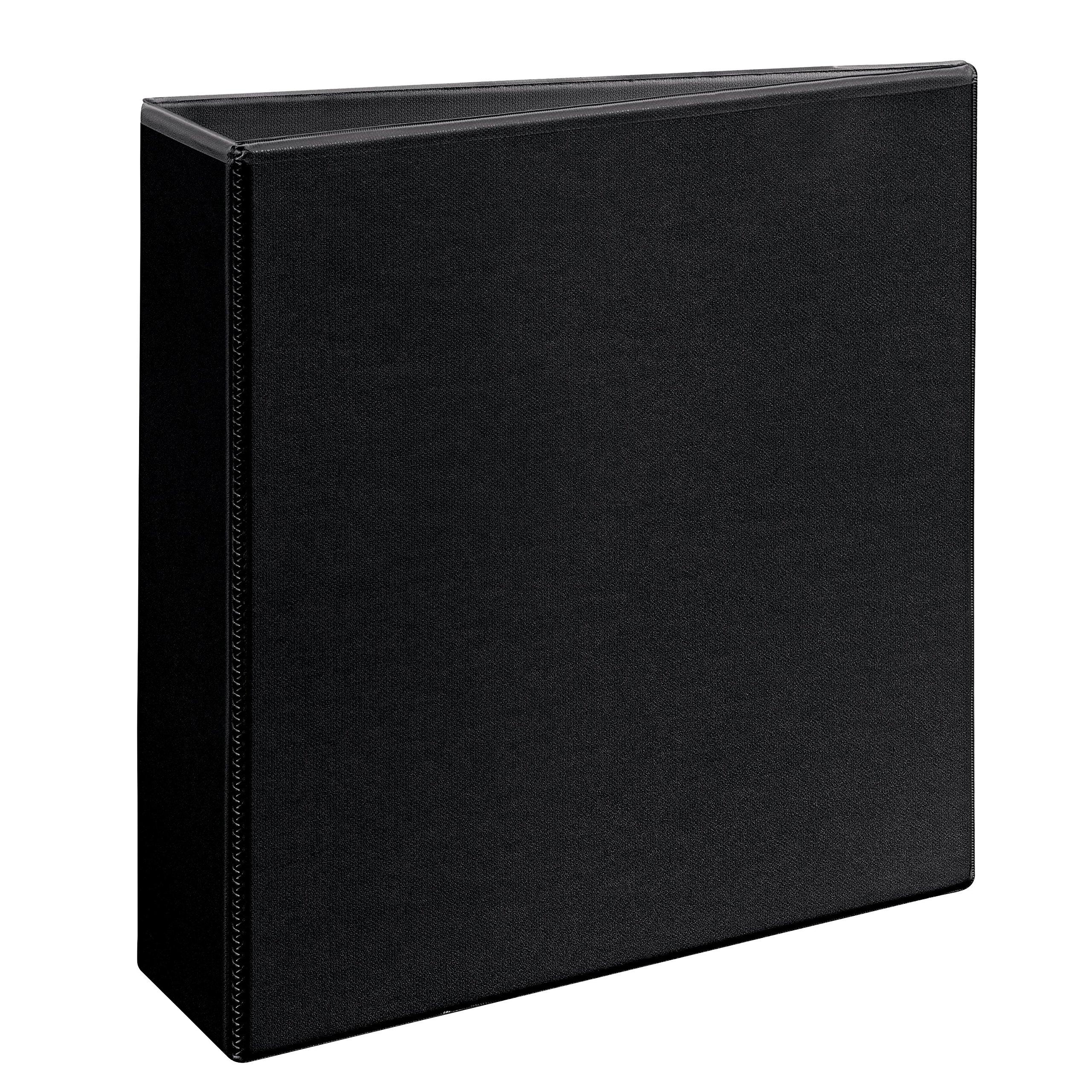 Avery Durable View Binder EZD Rings, 3'' One Touch Rings, 670-Sheet Capacity, DuraHinge, Black (09700)