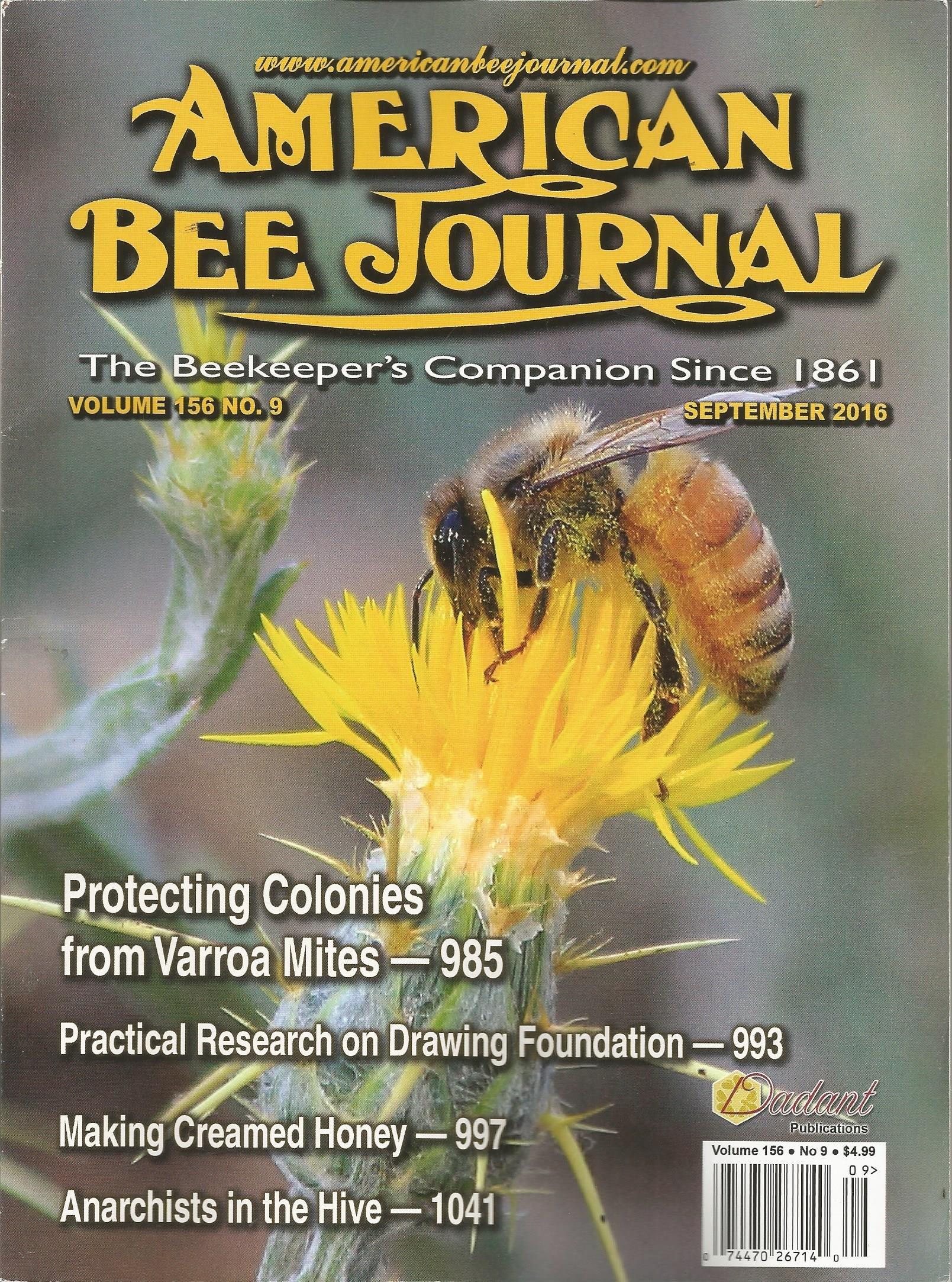 Read Online American Bee Journal (September 2016) pdf