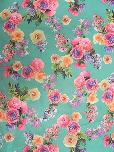 Floral Scuba Stretch Jersey Lycra